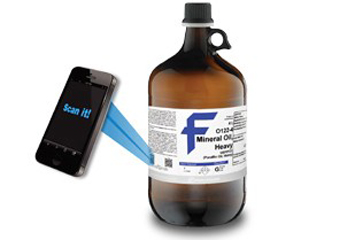 Fisher Chemical Labels Delivers CofA + SDS Via QR Codes